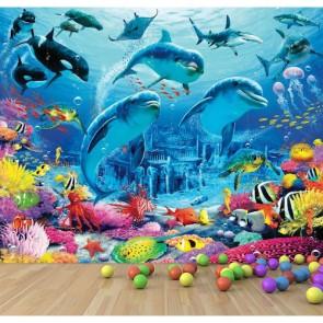 Créatures sous-marines papiers peints photo appliqué sur le mur