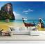 Excursion en bateau - Tapisserie murale photo 3D