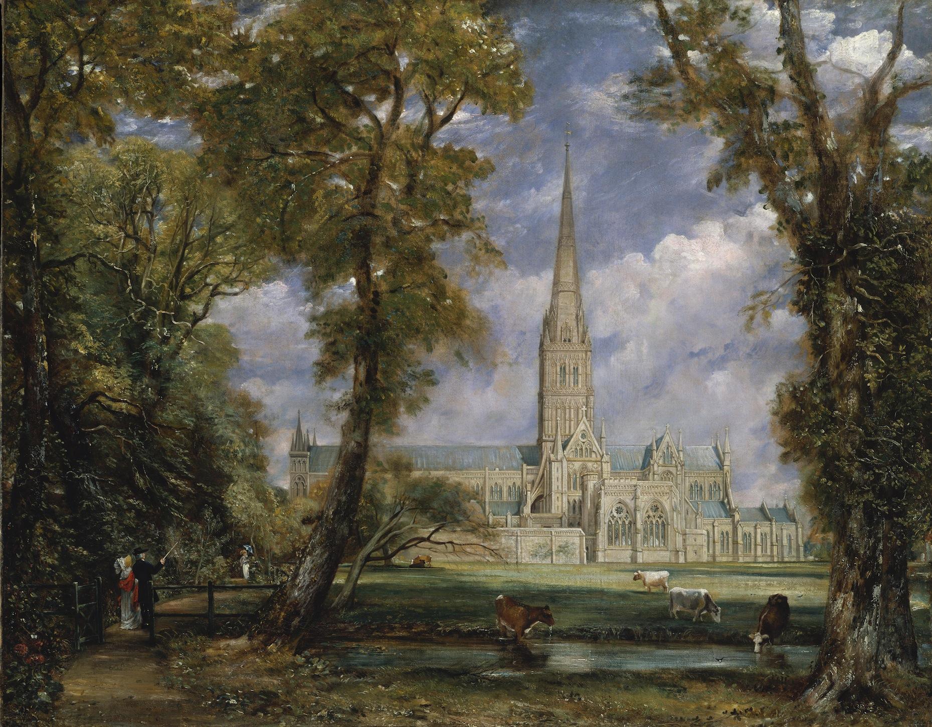 Cathédrale de Salisbury papier peint
