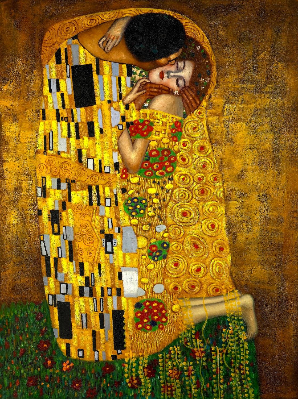 Le baiser tapisserie murale