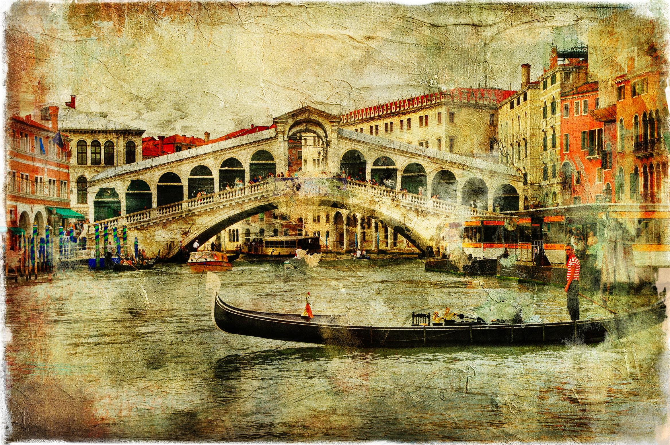 Pont du Rialto à Venise papiers peints photo appliqué sur le mur
