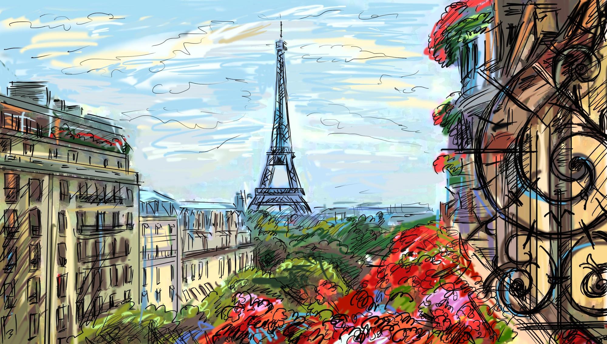 Peinture de Paris decoration murale