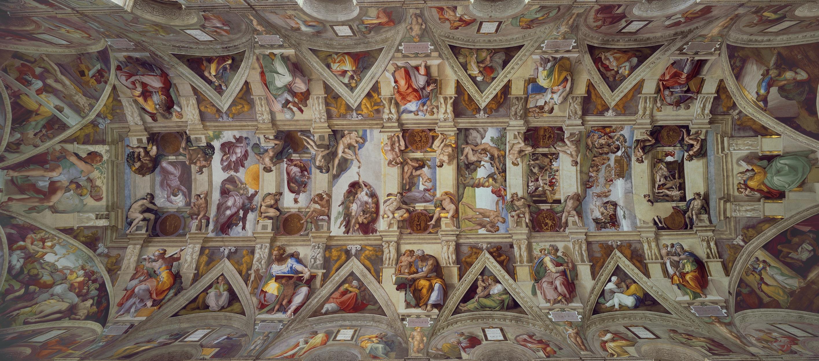 Chapelle Sixtine papier peint