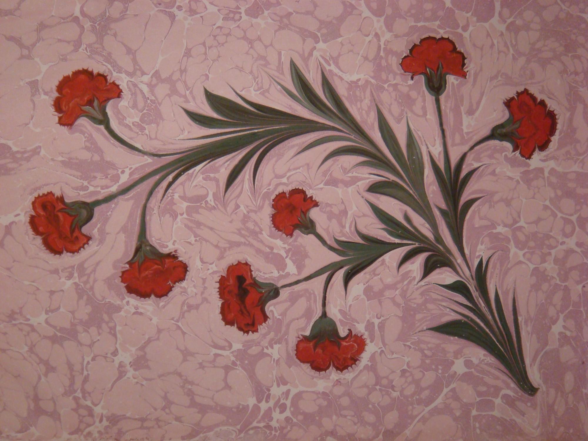 Art de marbre floral decoration murale
