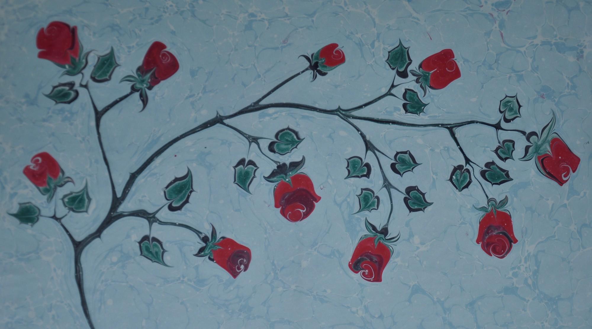 Art de marbre rose tapisserie murale