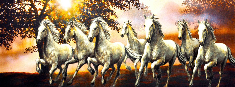 Sept chevaux gratuits tapisserie