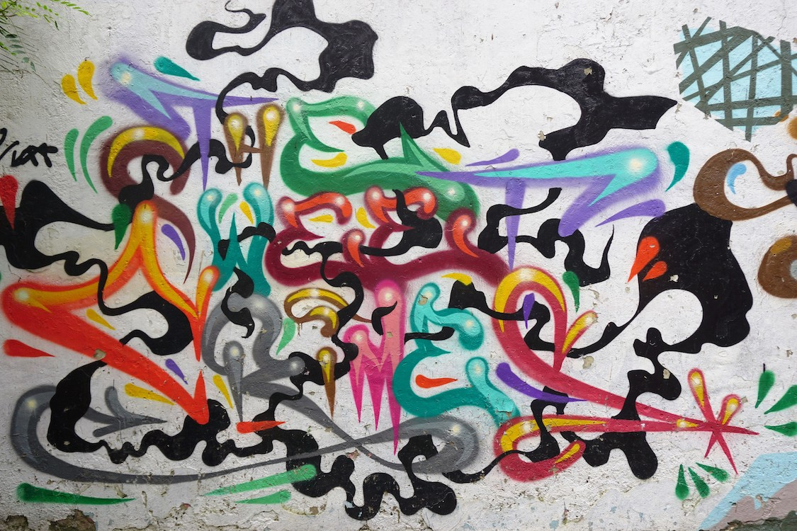 Mur de graffitis papiers peints photo