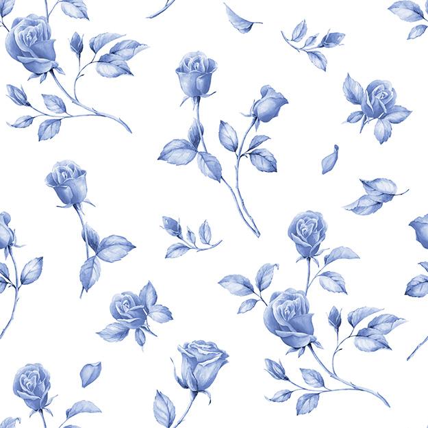 Design floral bleu papiers peints photo