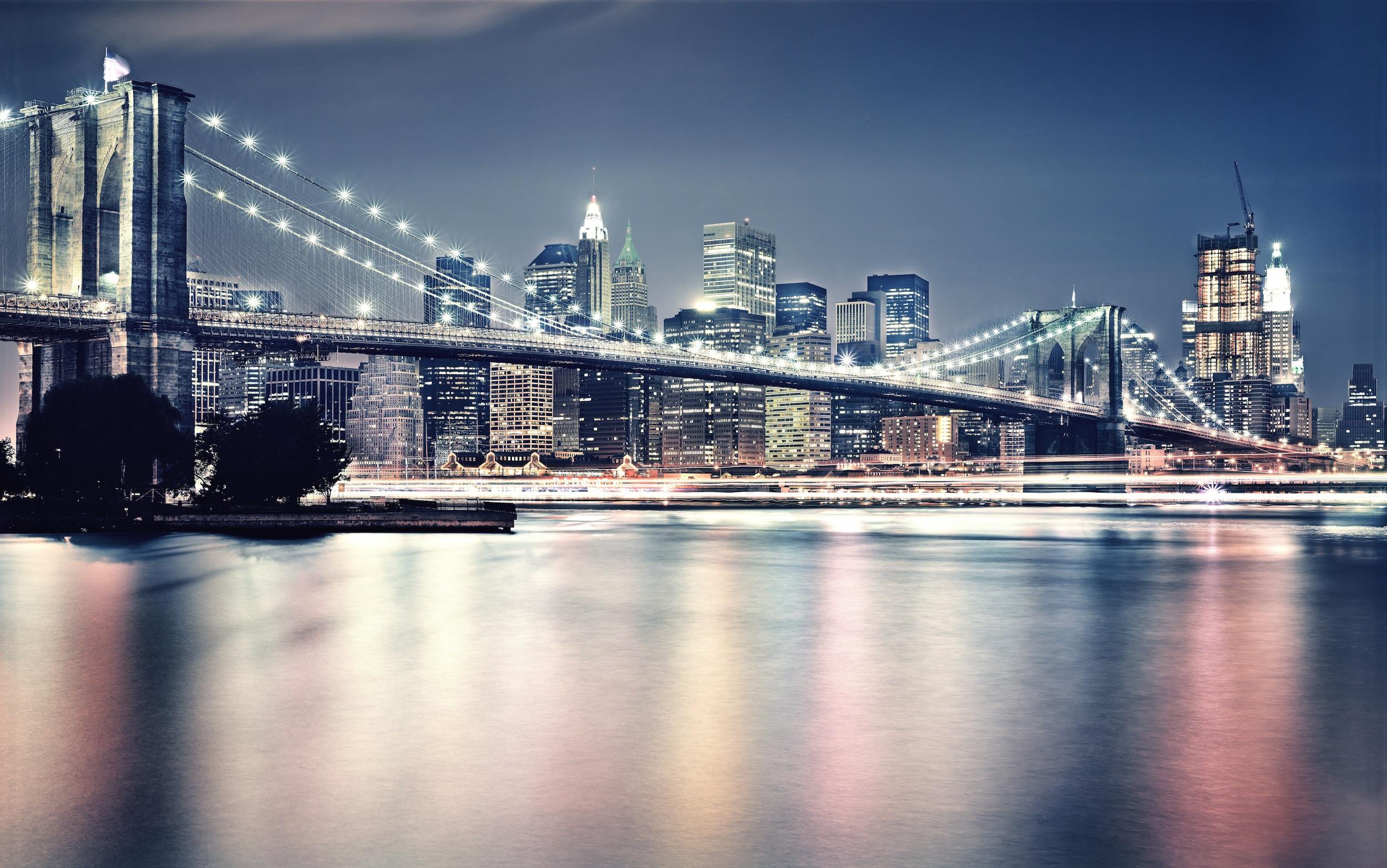 Nuit à Brooklyn papier peint
