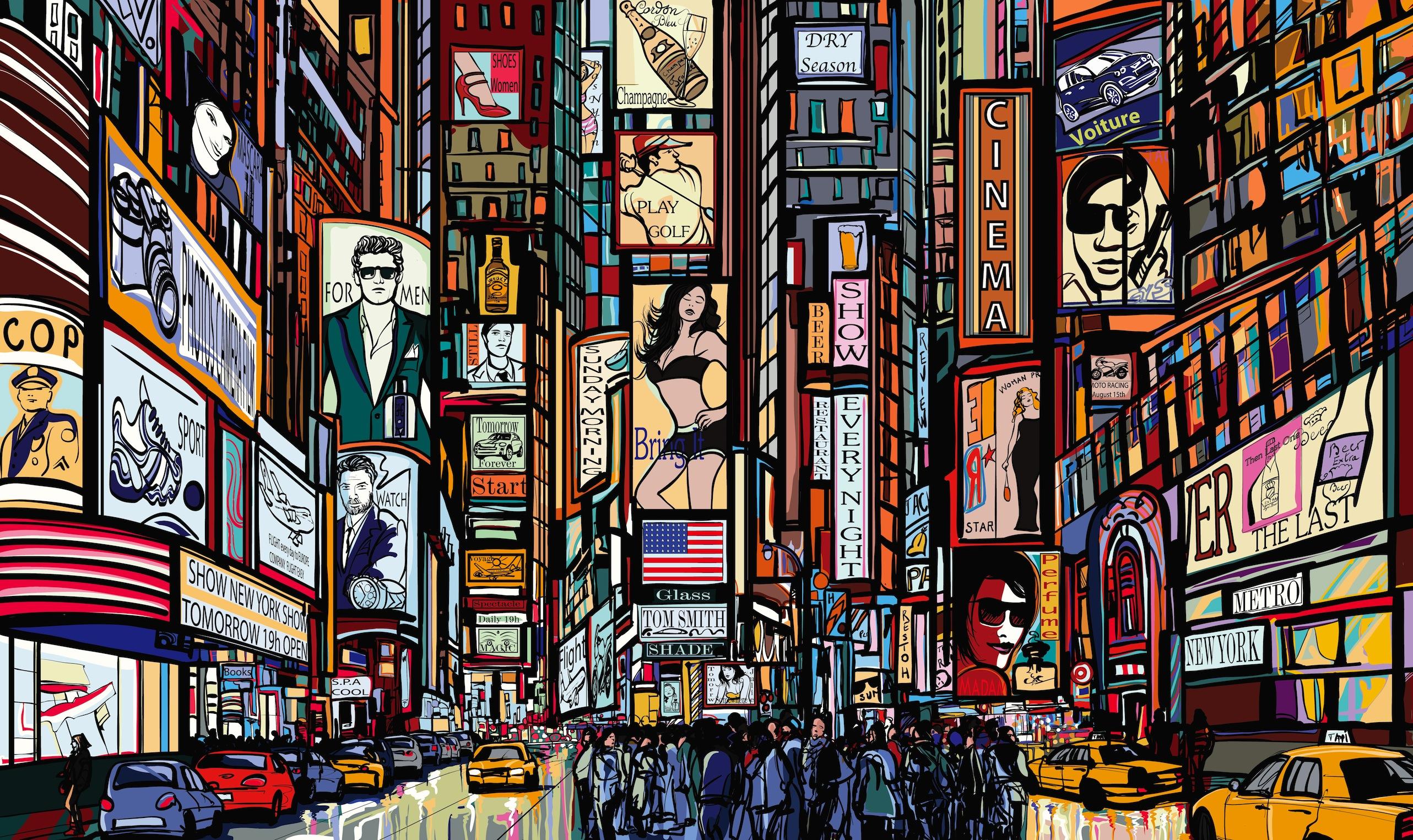 Times Square papiers peints photo 3D