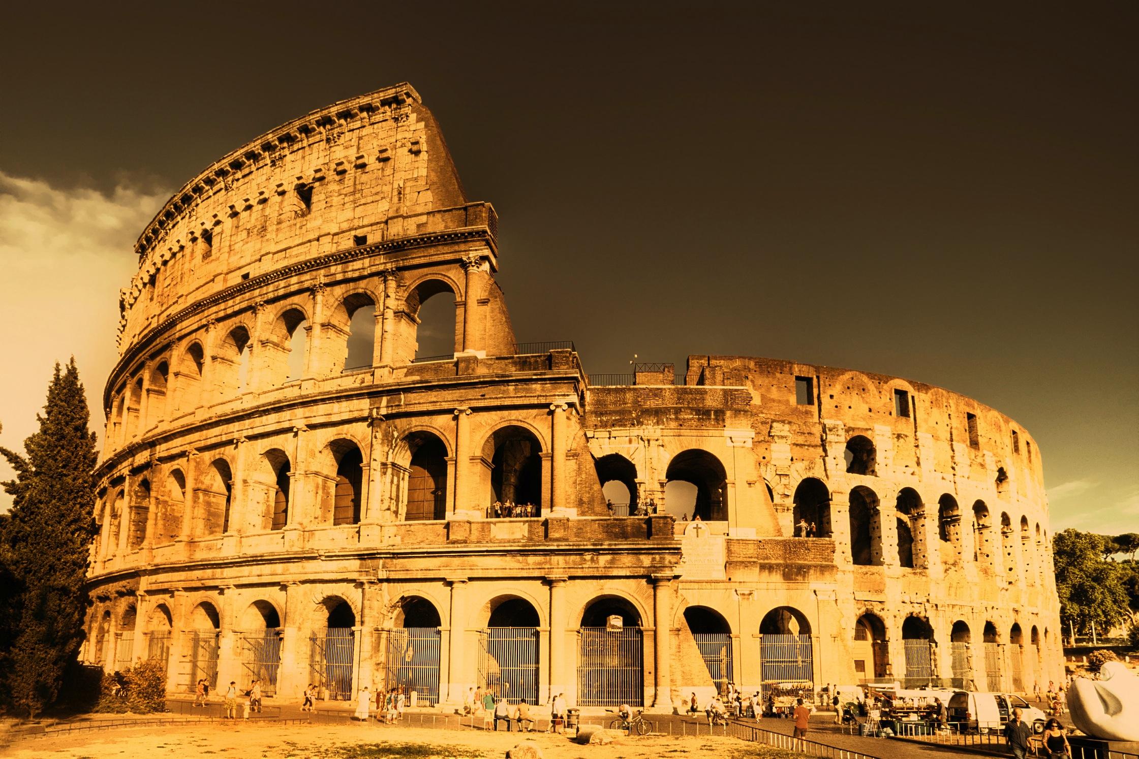 Colisée à Rome papier peint 3d