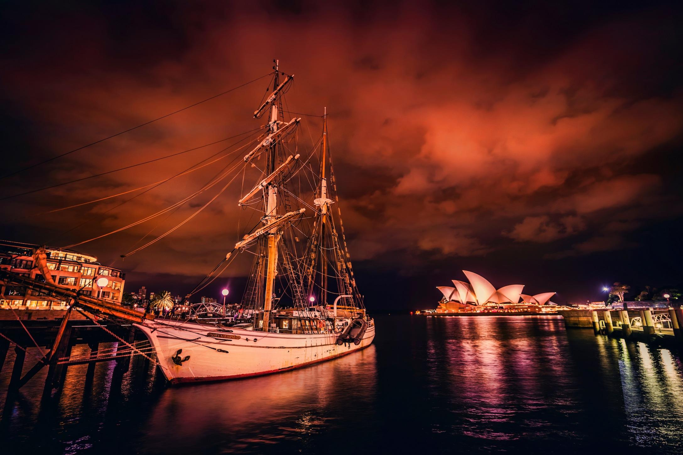 Nuit à Sydney papier peint