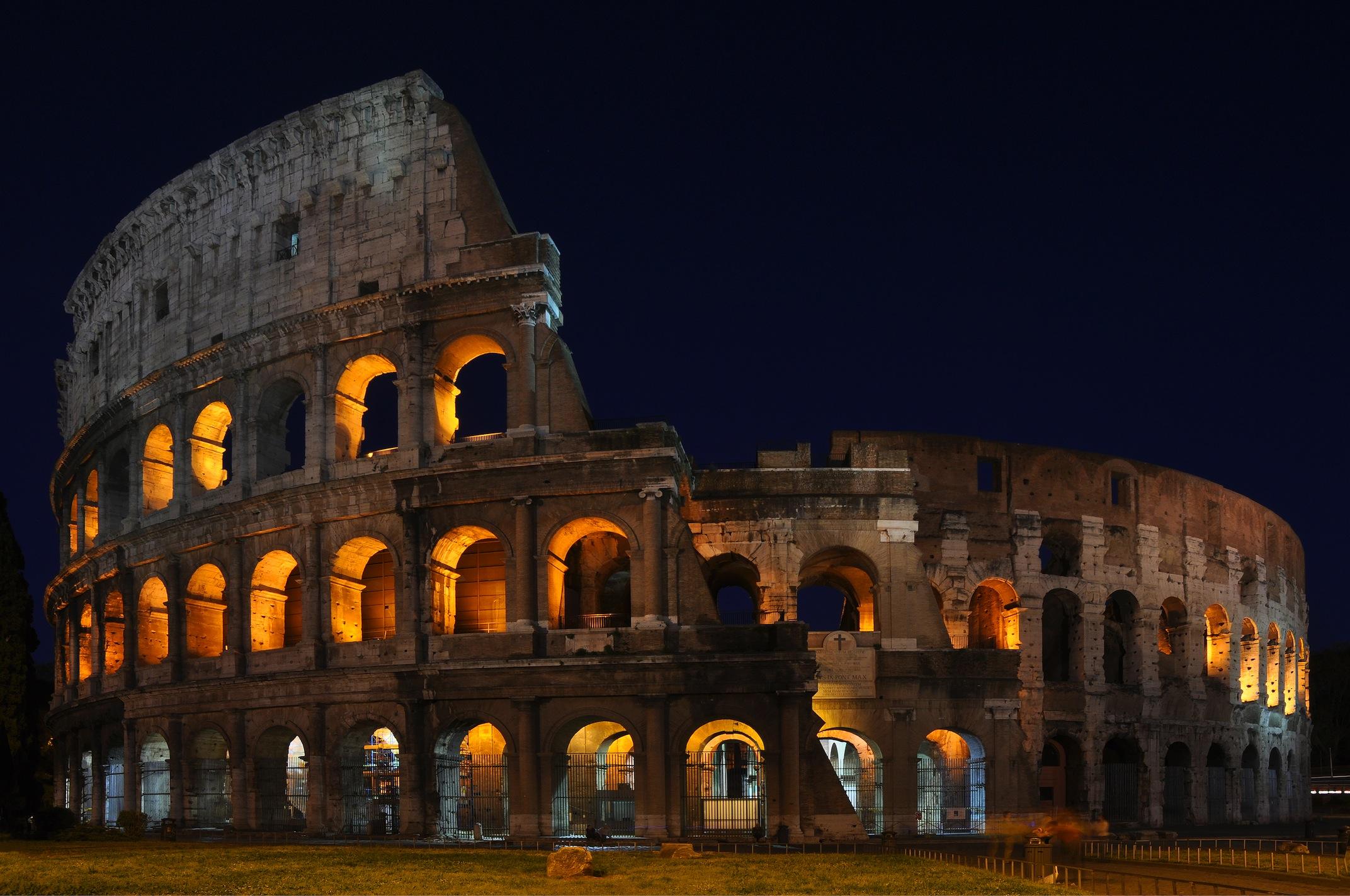Lumières du Colisée papiers peints photo appliqué sur le mur