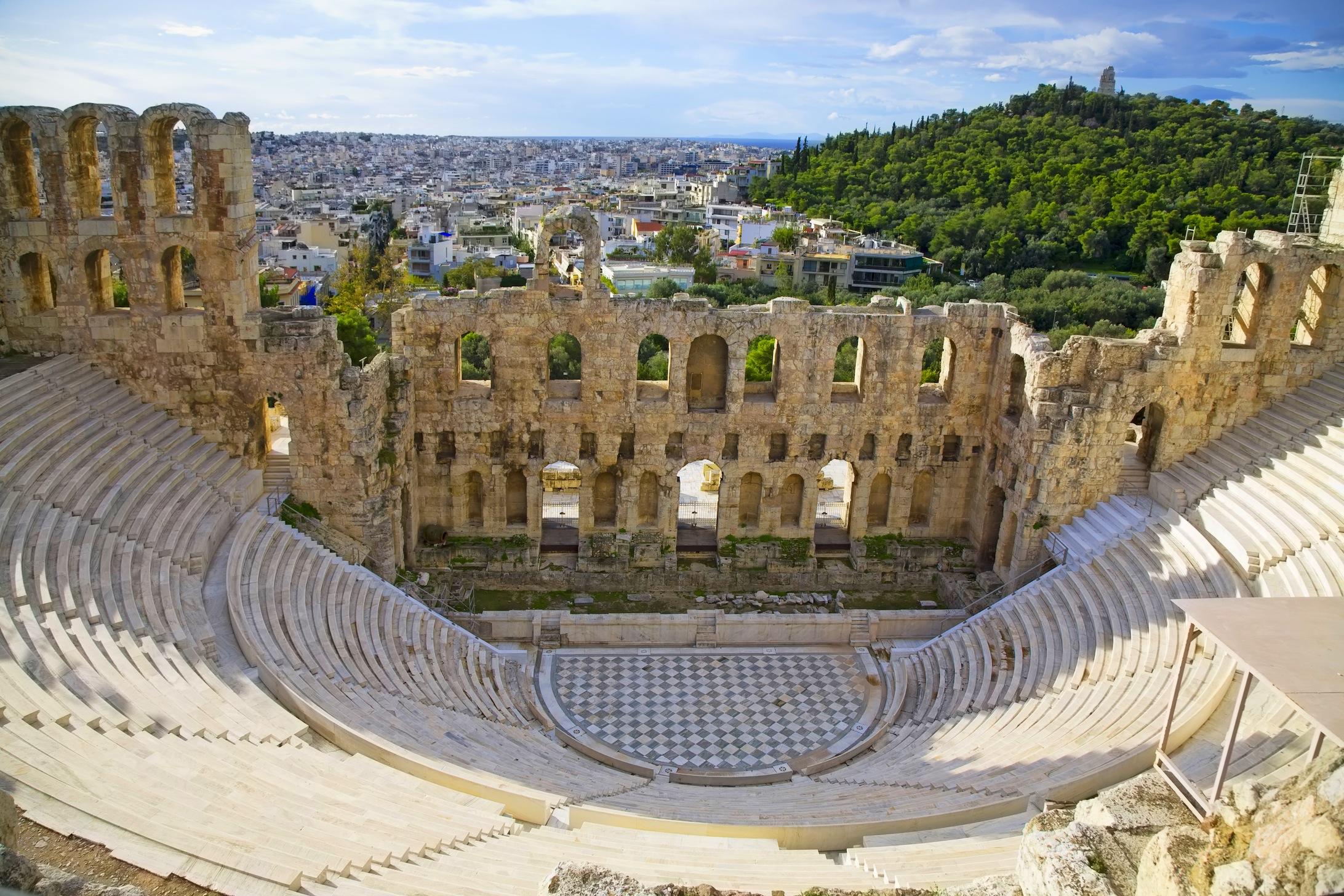 Théâtre Herodes Atticus Athènes papier peint