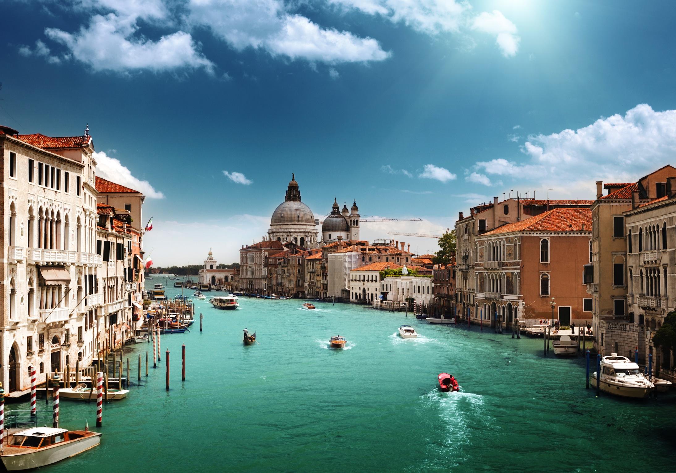Eaux de Venise tapisserie murale appliqué sur le mur