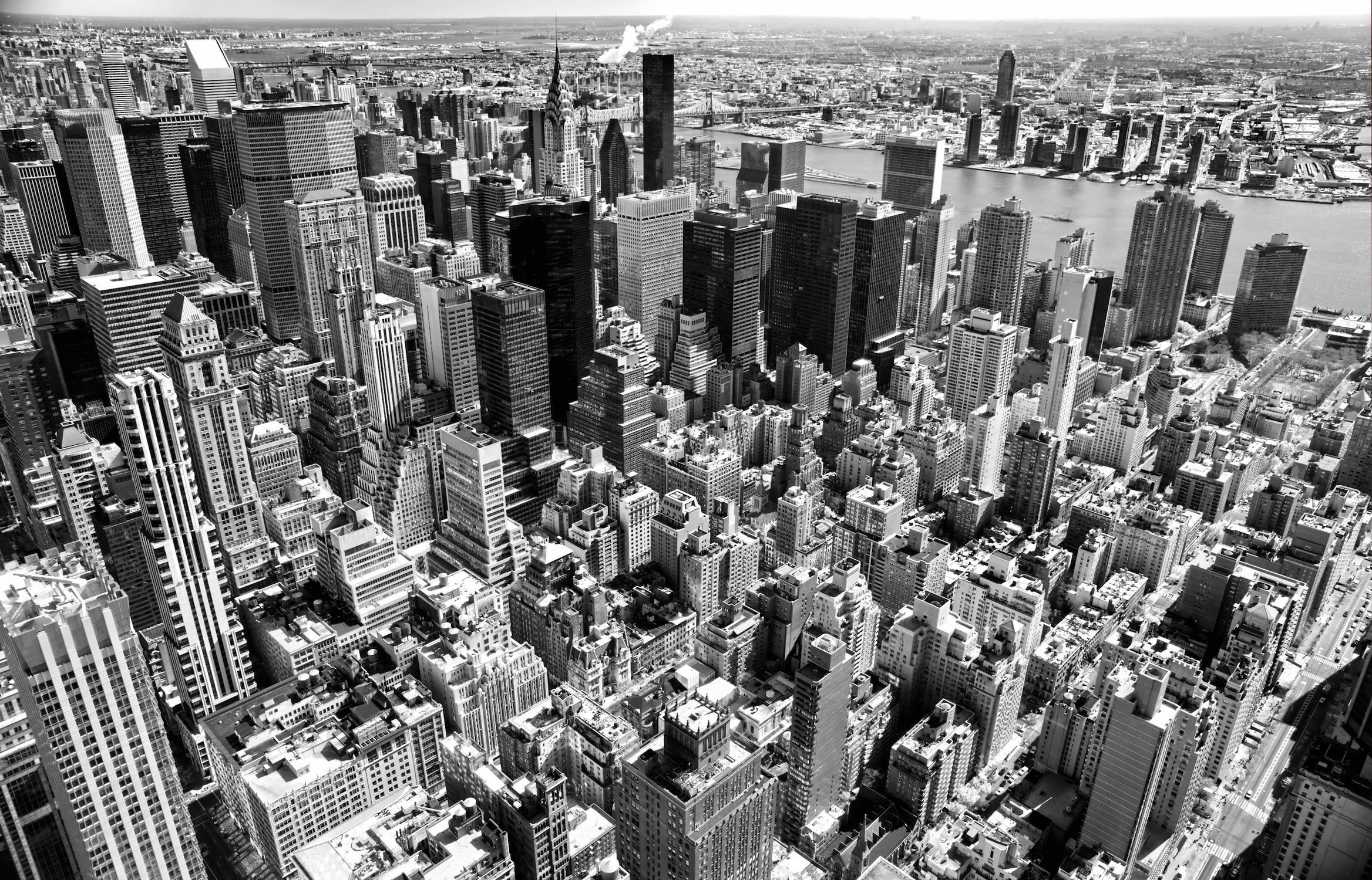 New York noir et blanc papiers peints photo