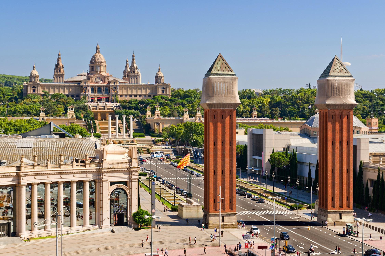 La place d'Espagne à Barcelone papier peint 3d