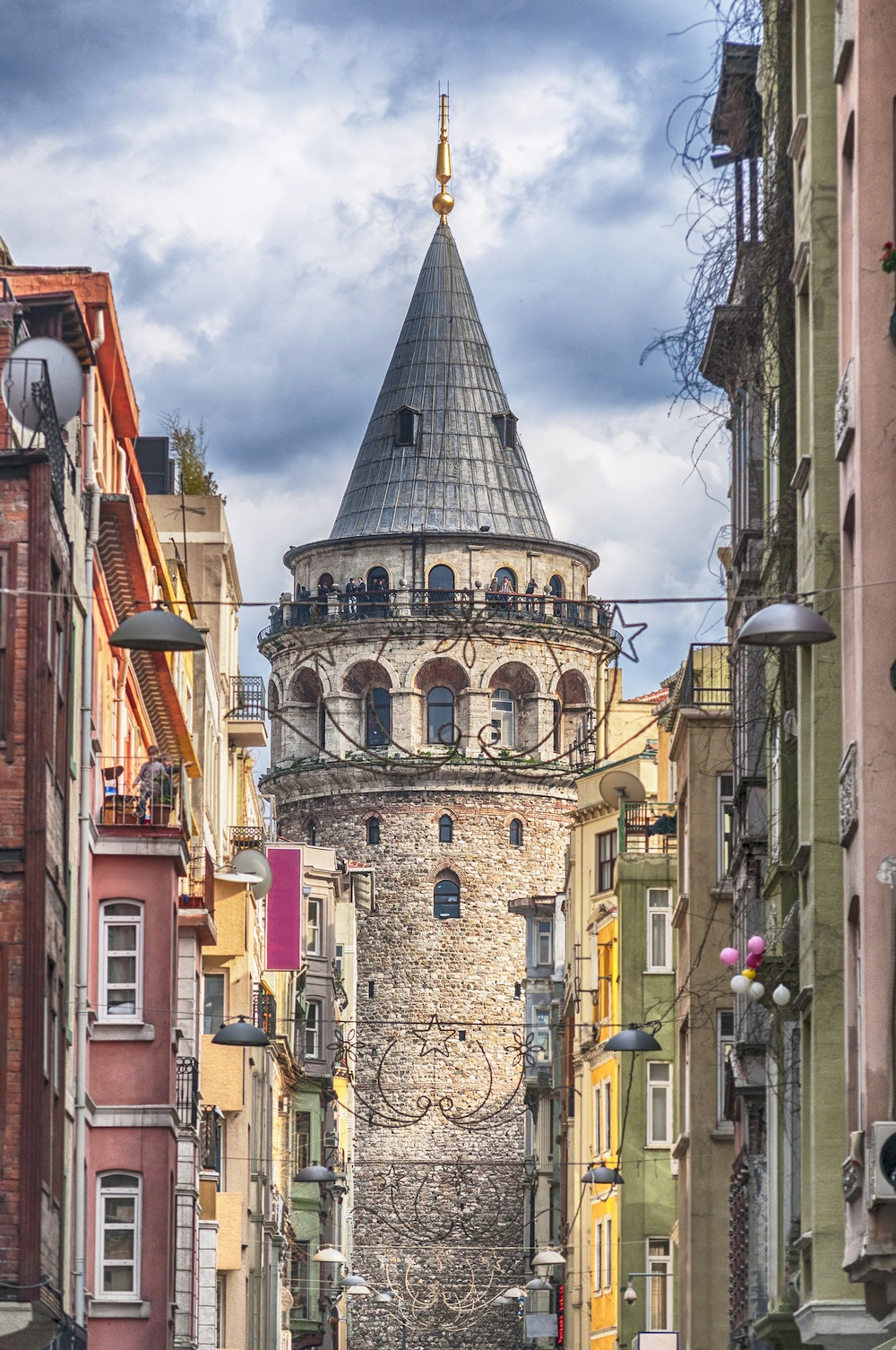 Une rue de Galata papiers peints photo 3D