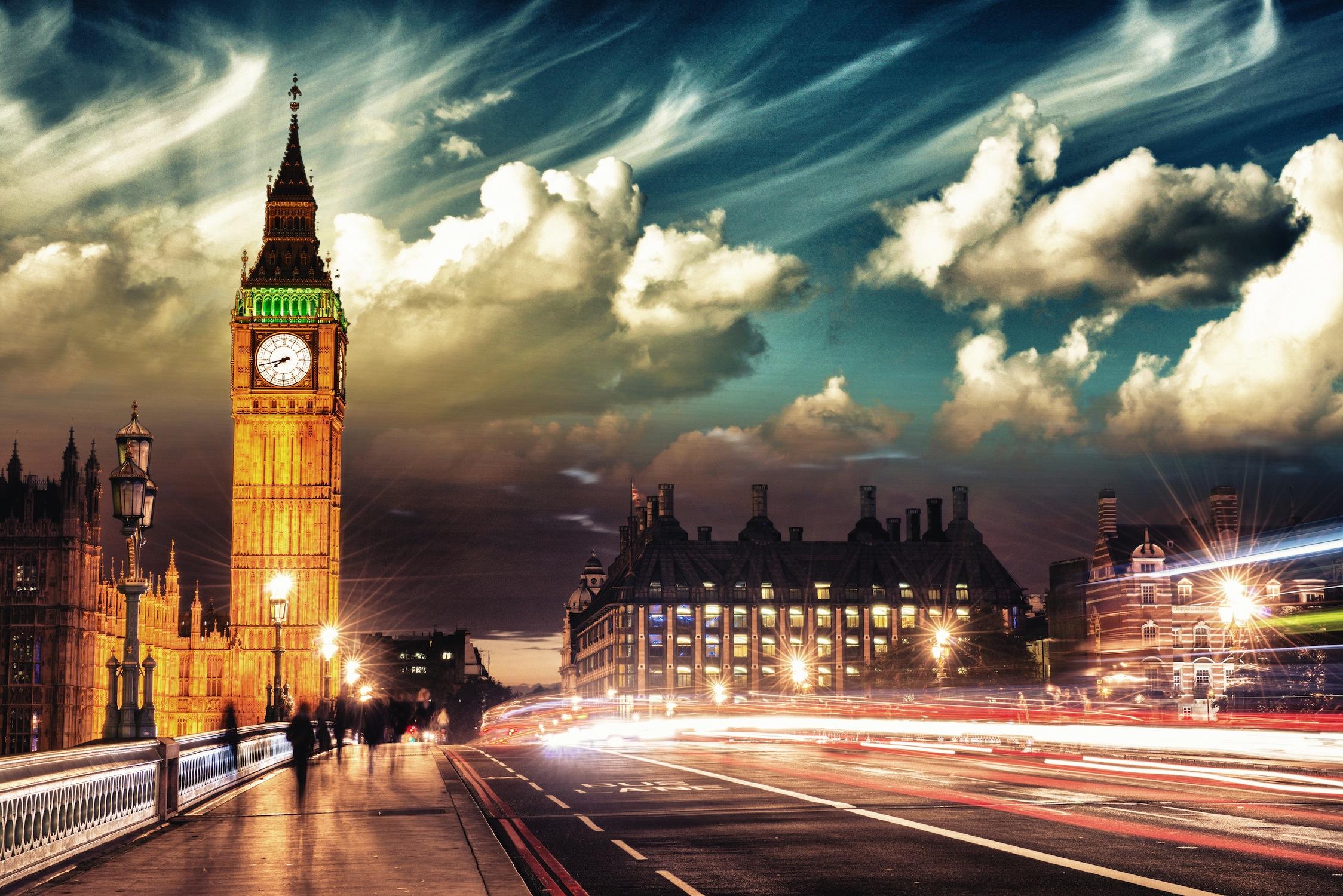 Nuages de Londres tapisserie