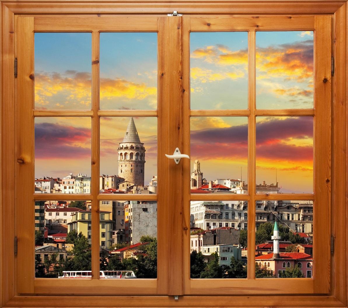 Je vis sur Galata papiers peints photo appliqué sur le mur