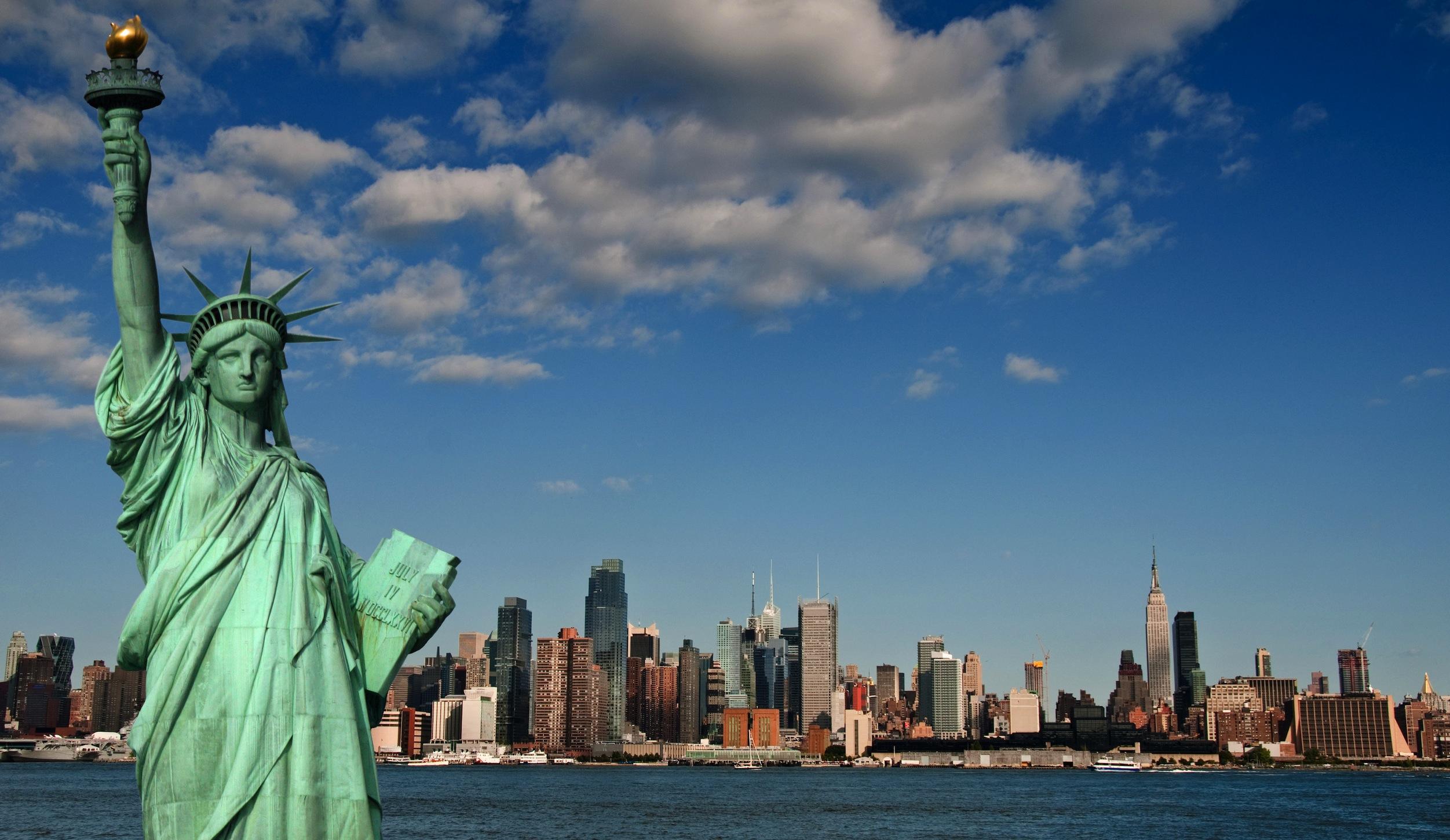 Statue de la Liberté papier peint 3d