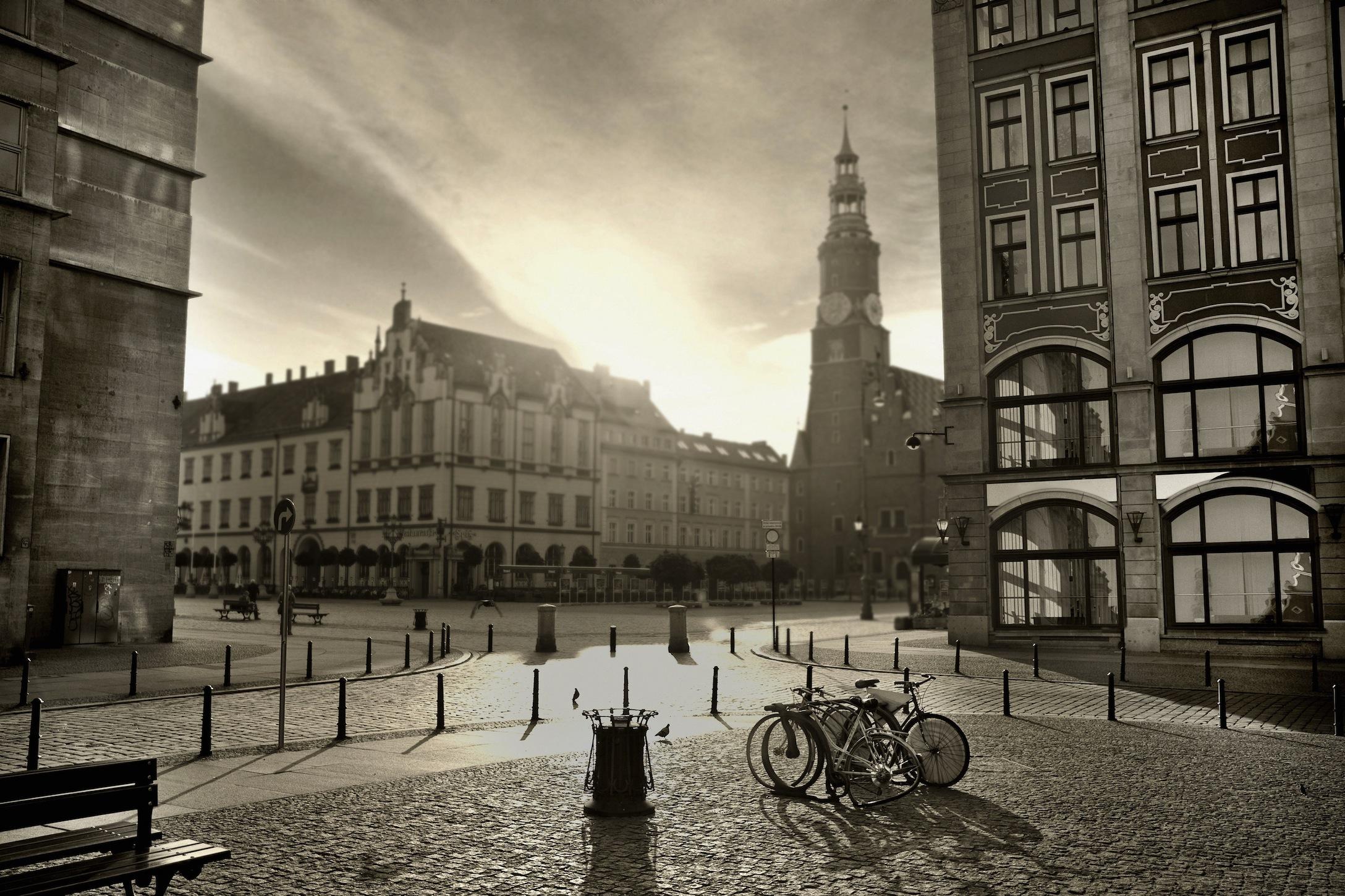 Coucher de soleil en noir et blanc papiers peints photo