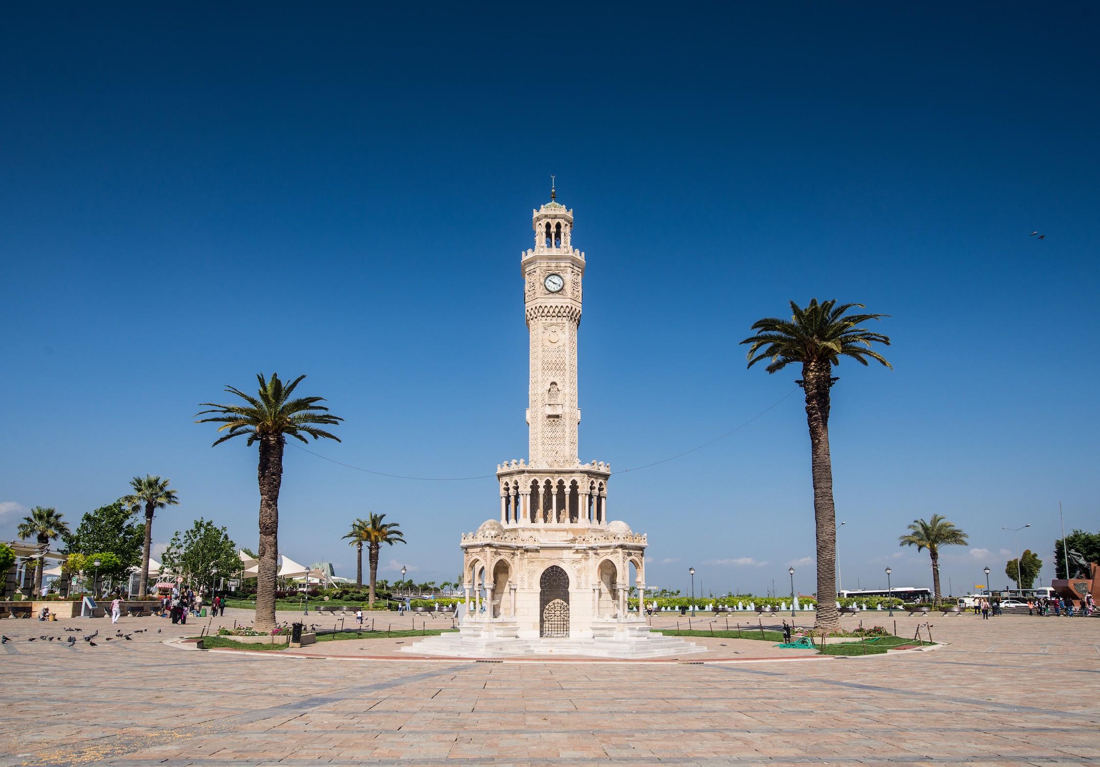 Tour de l'horloge d'Izmir tapisserie