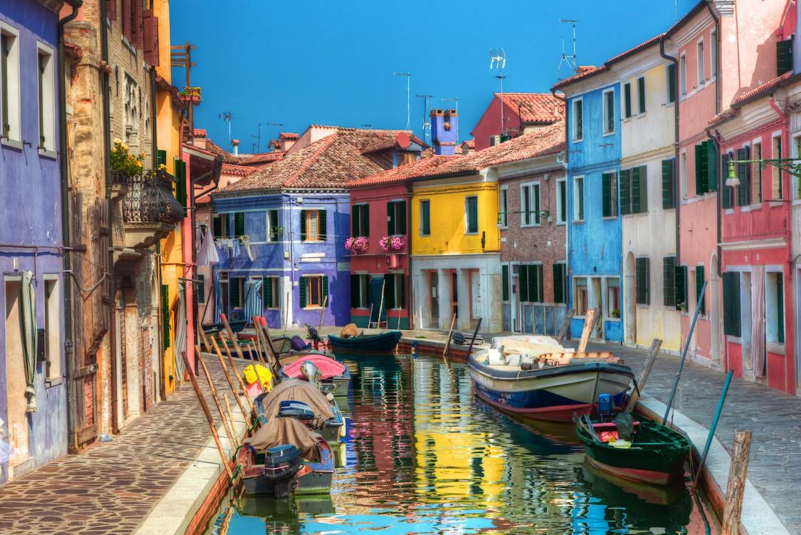 Maisons colorées de Venise papiers peints photo