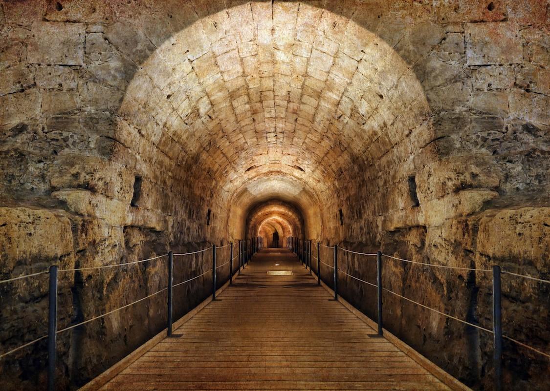 Pont tunnel profond papiers peints photo