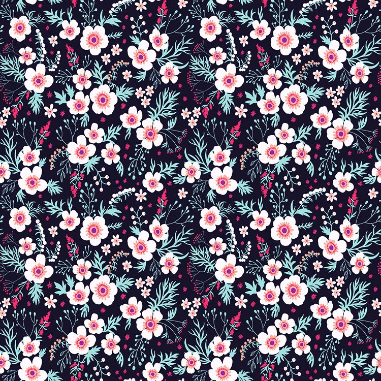 Motif de fleurs tapisserie