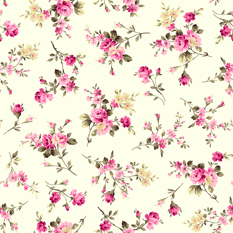 Fleurs rétro papier peint 3d