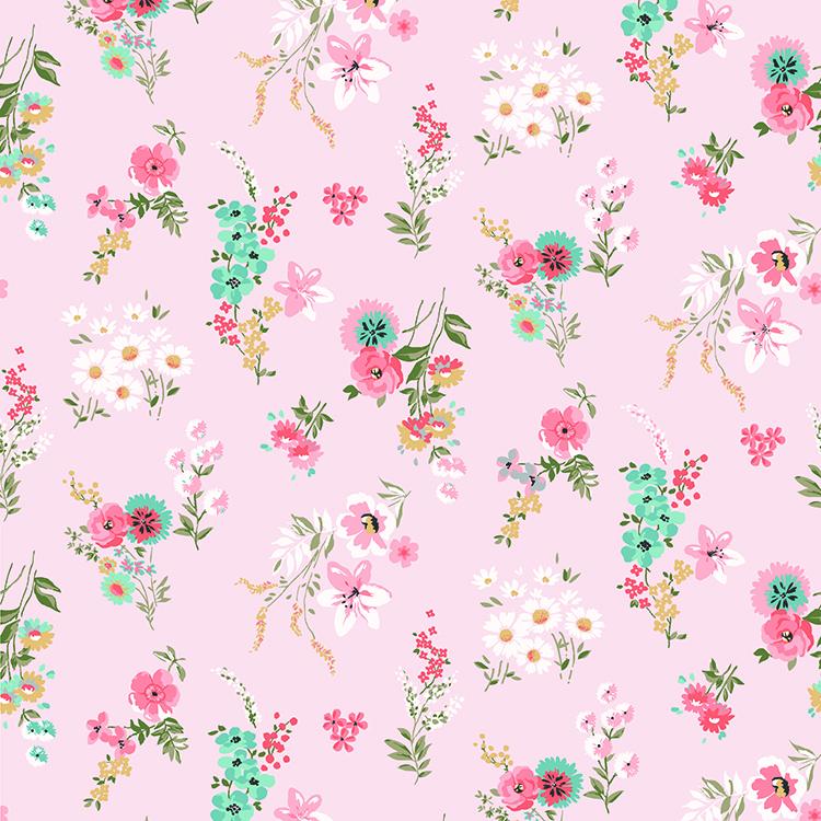 Murs fleuris roses papiers peints photo