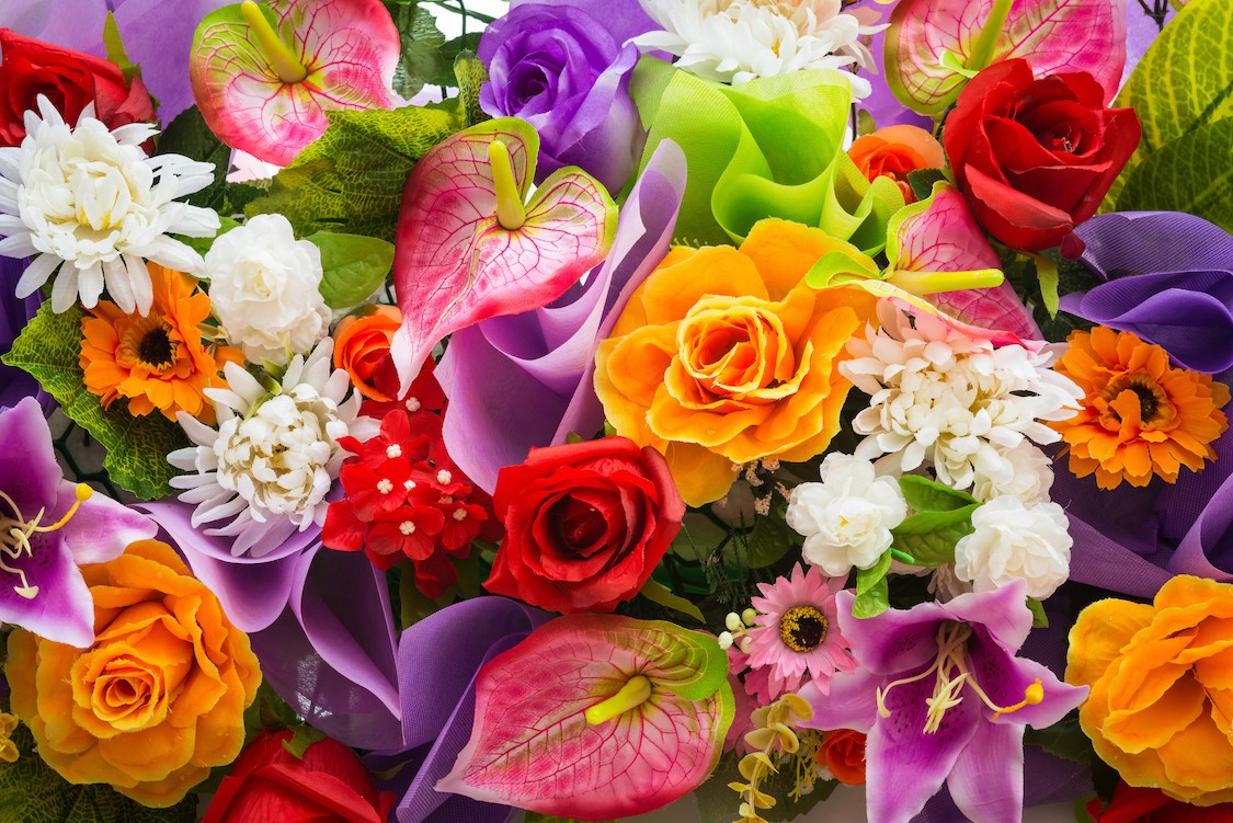 Un bouquet de fleurs papiers peints photo 3D