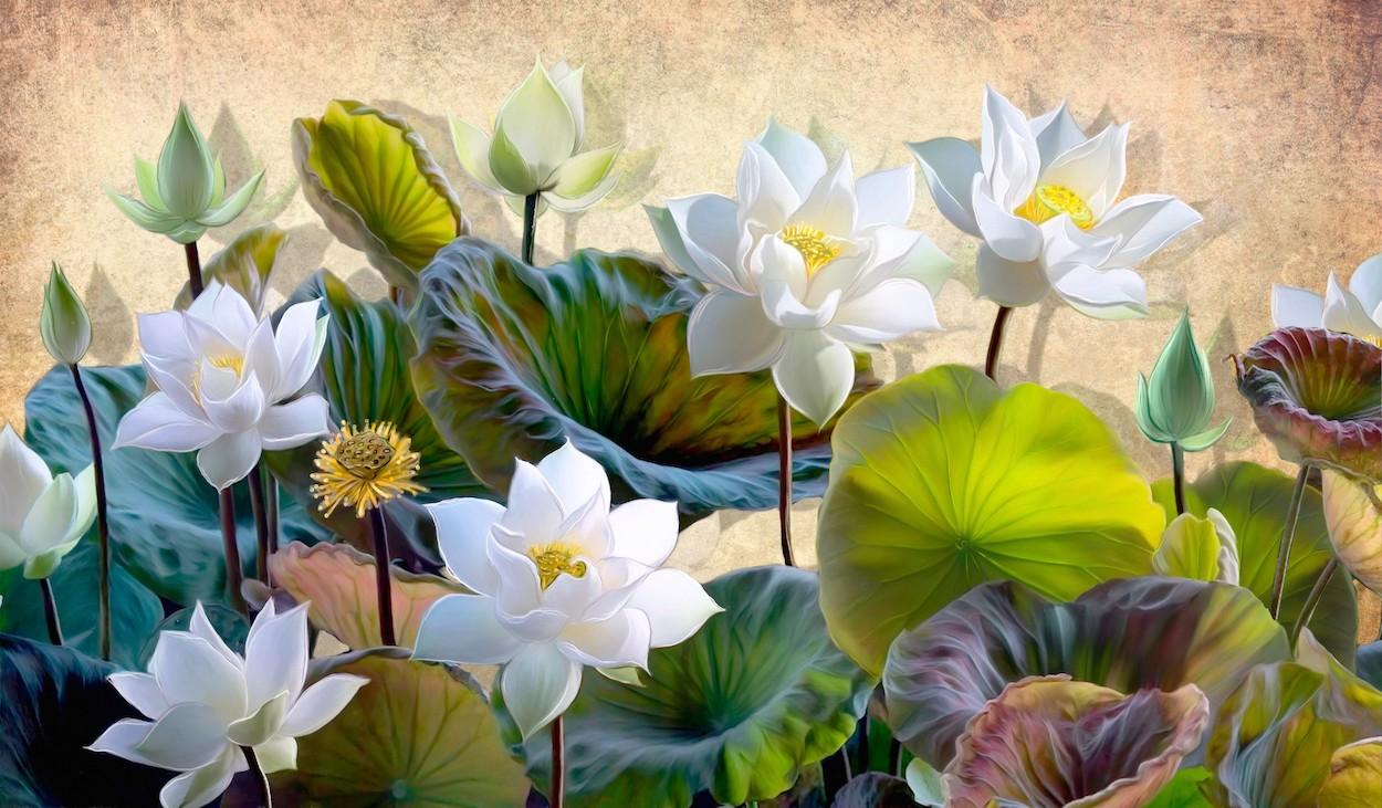 Fleurs du paradis tapisserie