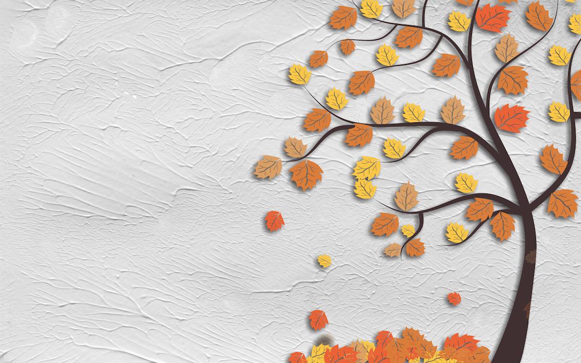 Art d'automne papier peint 3d