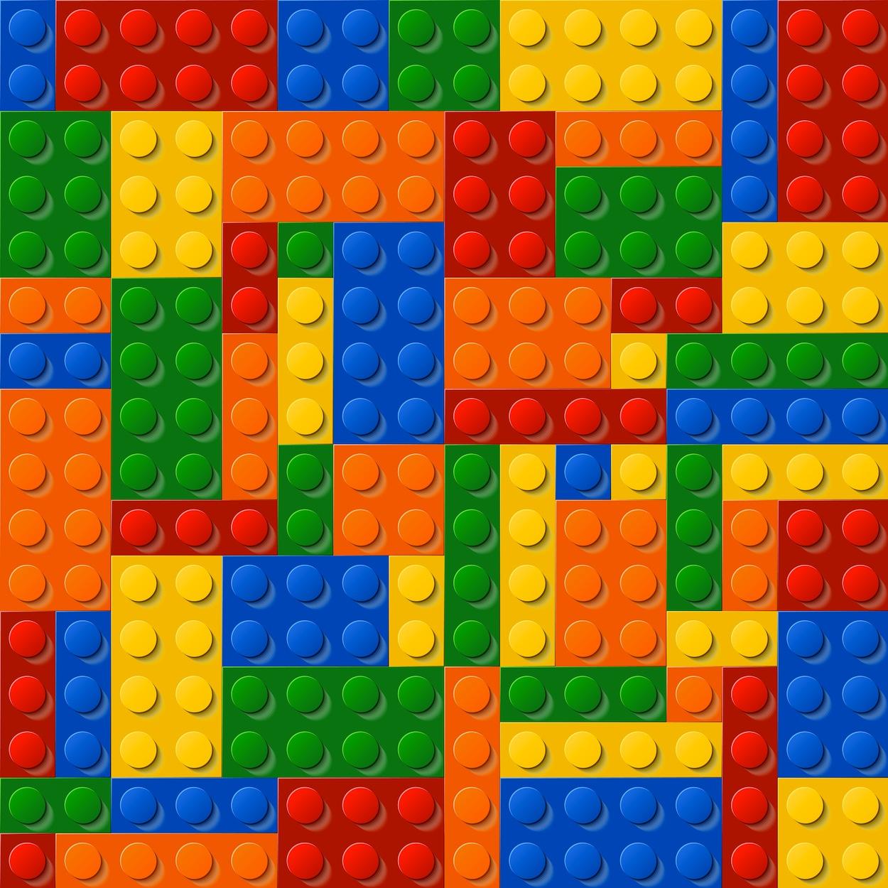Lego decoration murale