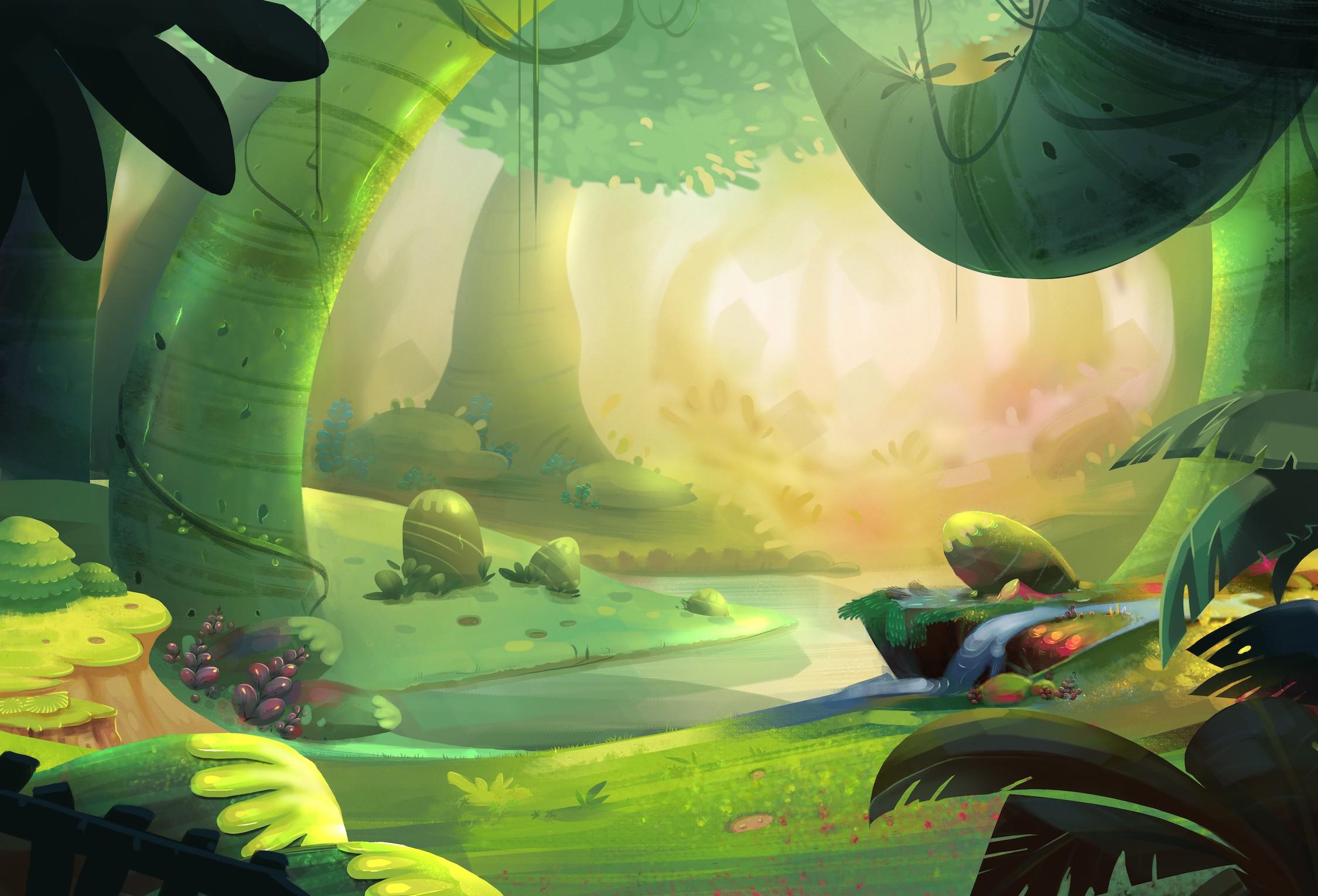 La forêt attend d'être découverte papiers peints photo 3D