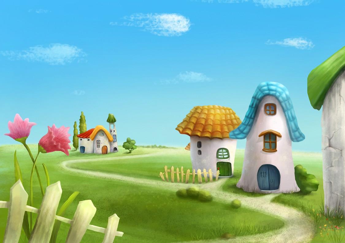 Sweet Village papier peint 3d