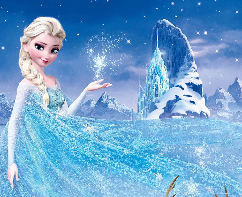 Elsa et le château de cristal decoration murale