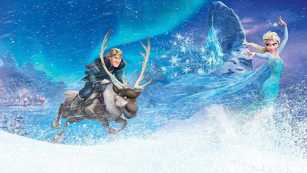 Elsa et le pays des merveilles tapisserie murale