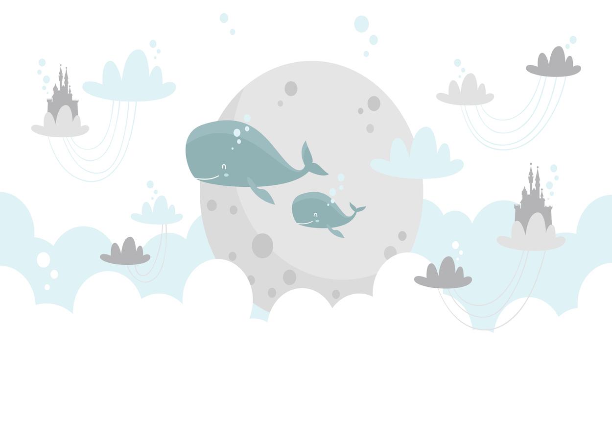 Terre des baleines decoration murale