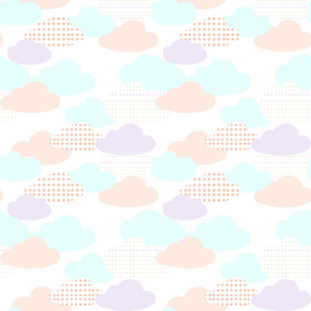 Nuages colorés tapisserie