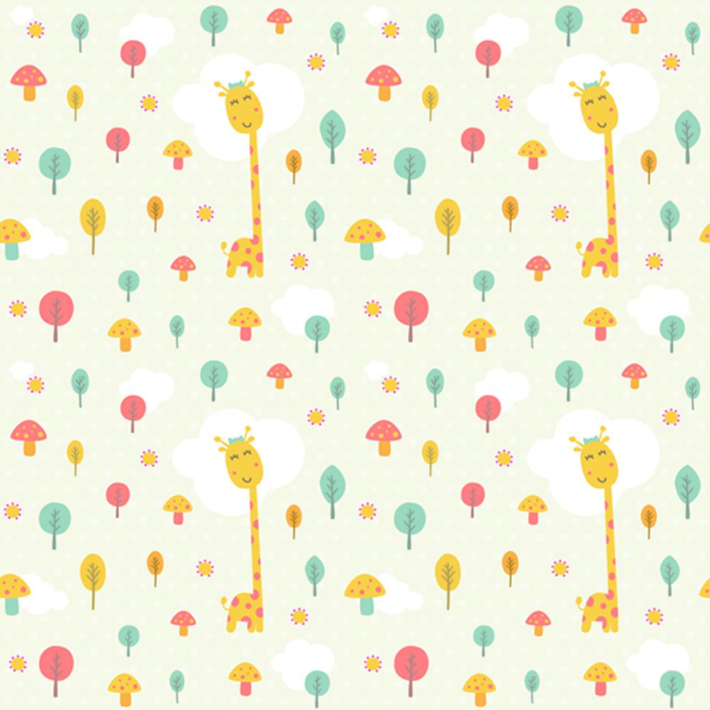 Le monde de la girafe decoration murale