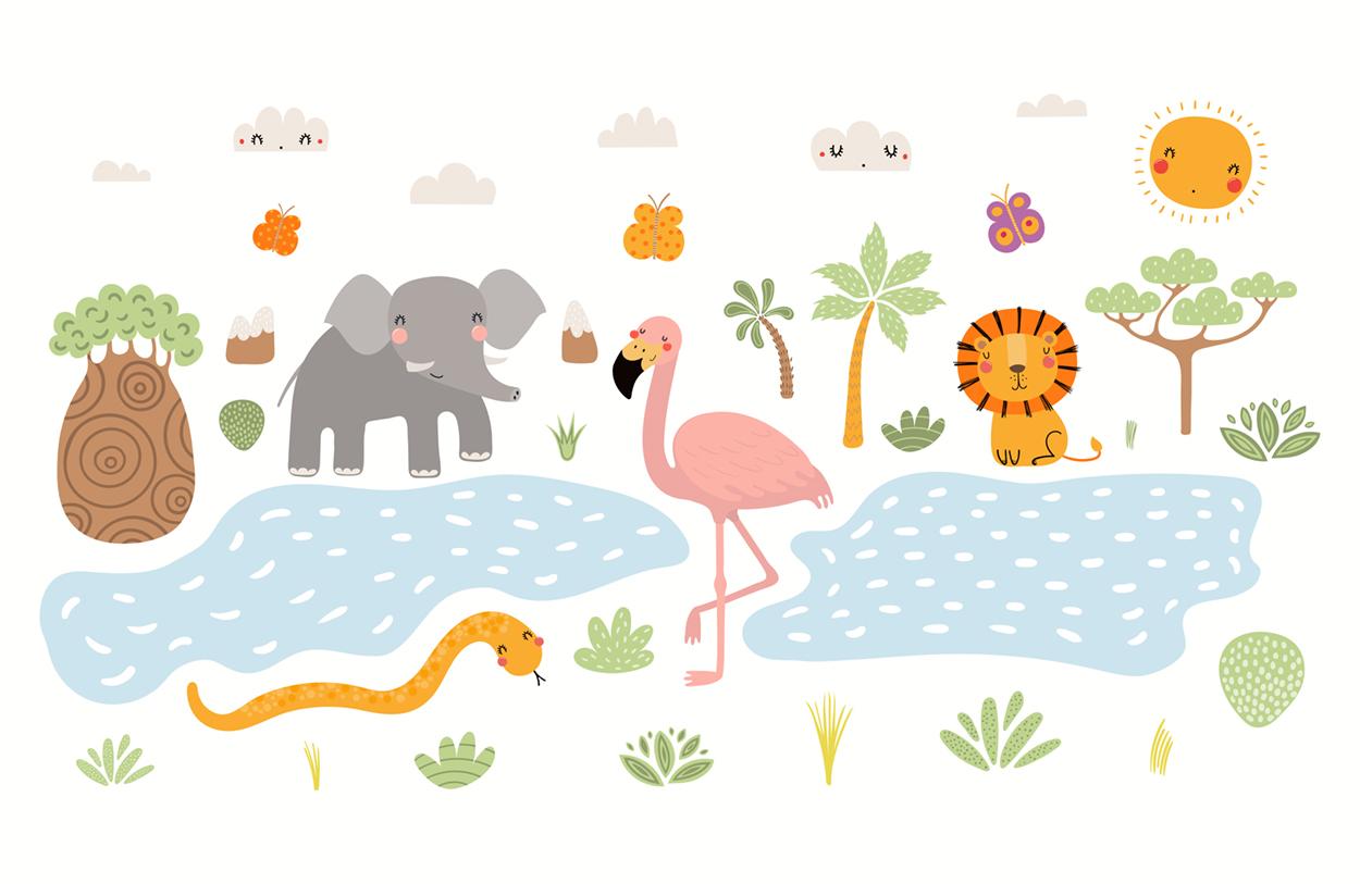 Animaux et nature papier peint