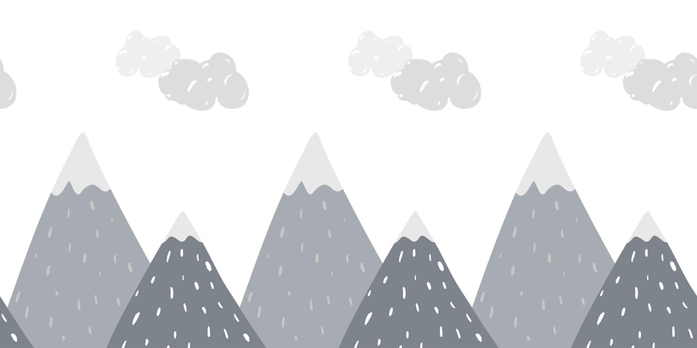 Collines nuageuses tapisserie murale