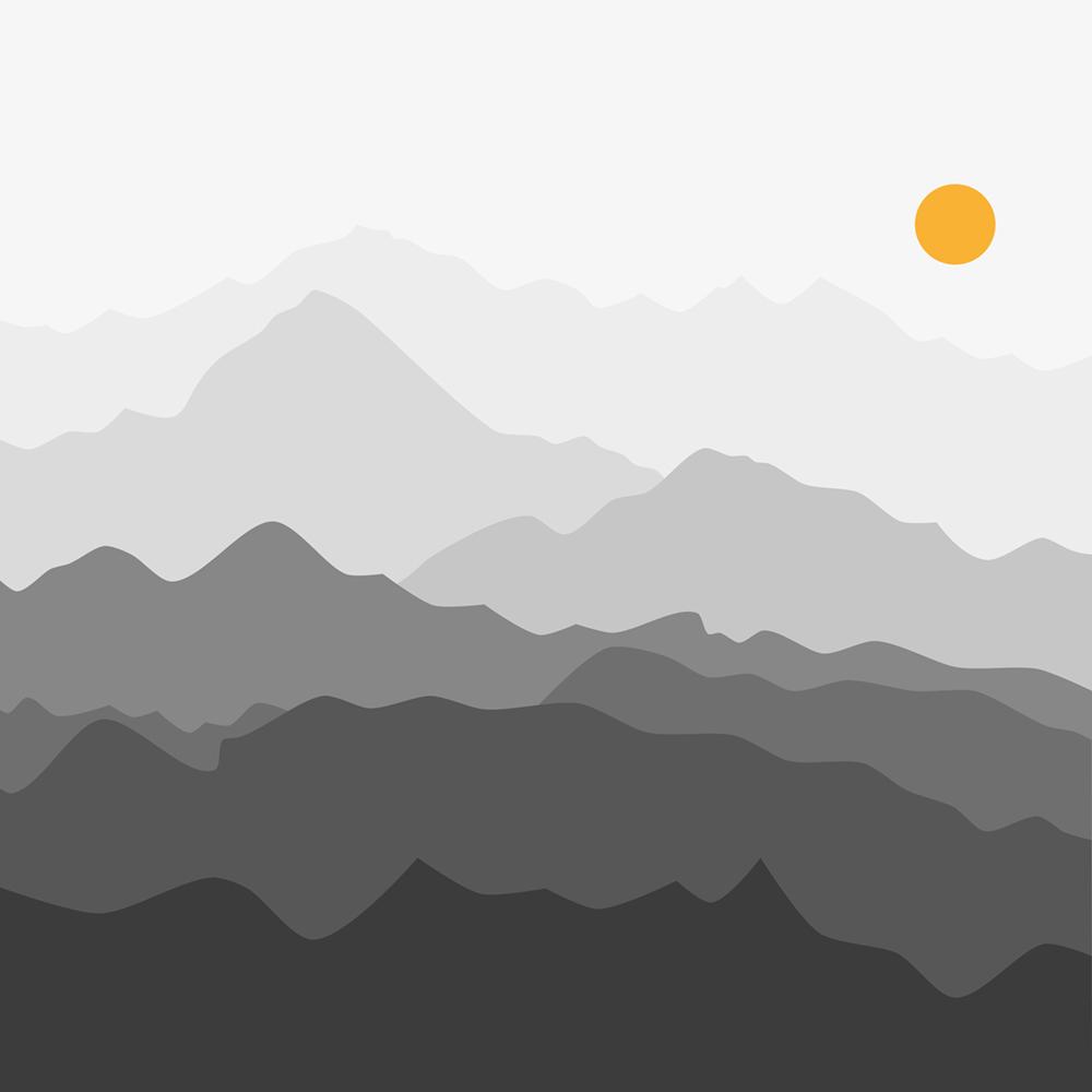 Derrière les collines papier peint 3d
