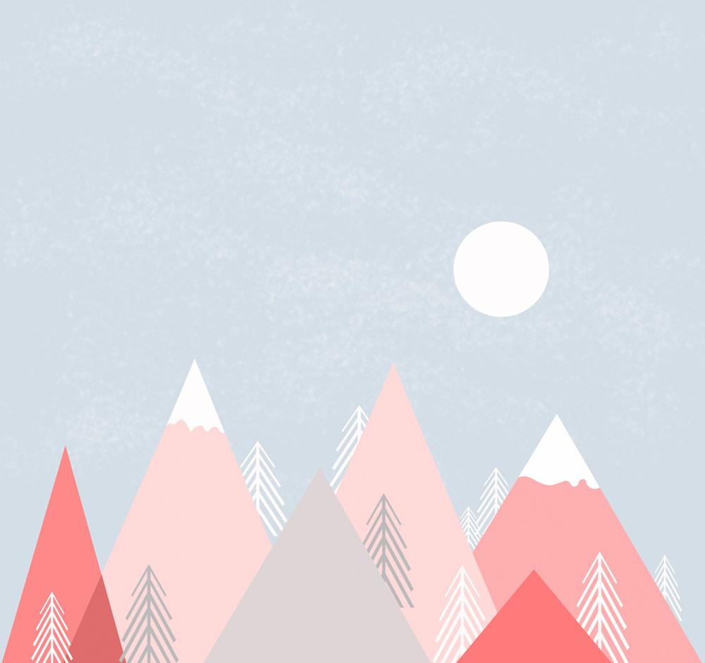 Montagnes de couleur papiers peints photo