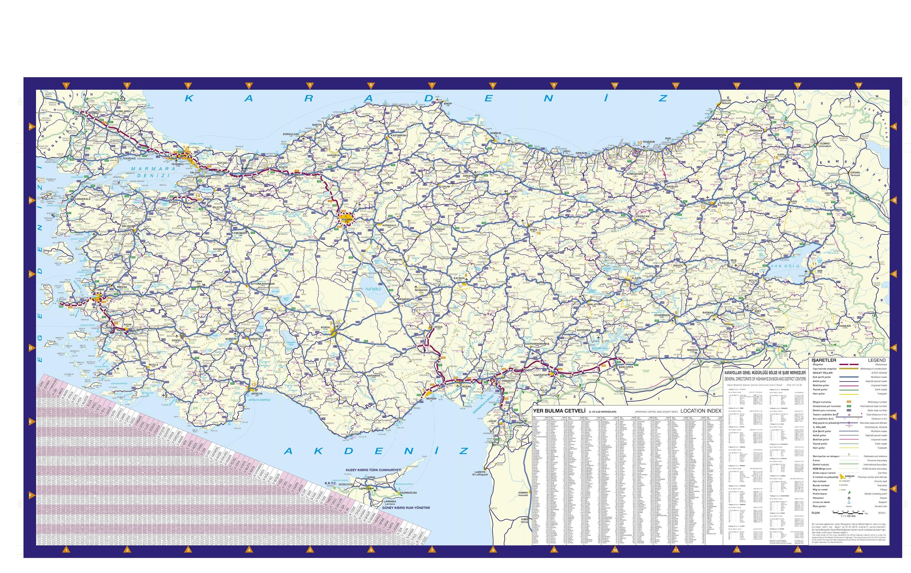 Carte politique turque papier peint 3d appliqué sur le mur