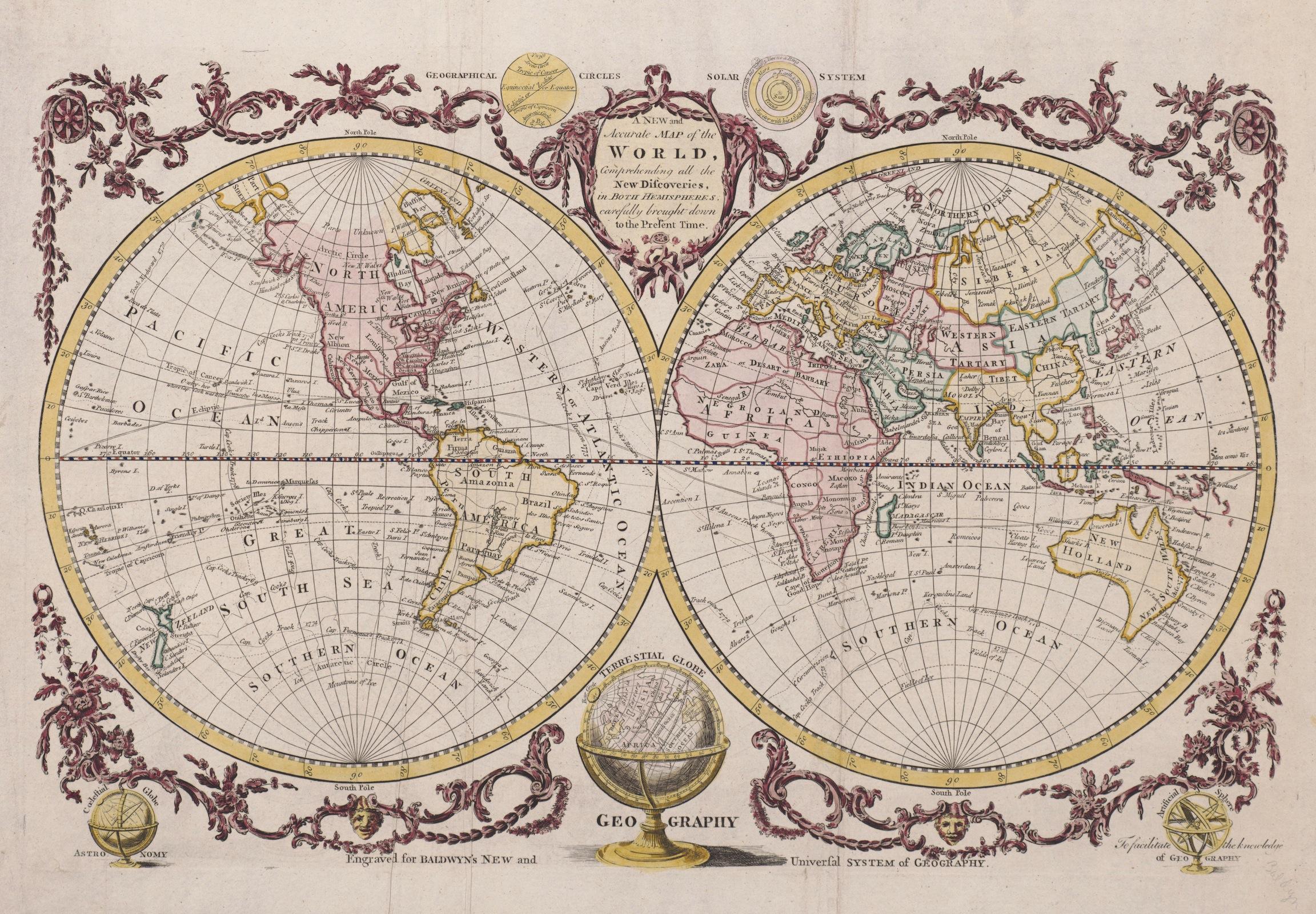 Atlas du monde vintage decoration murale
