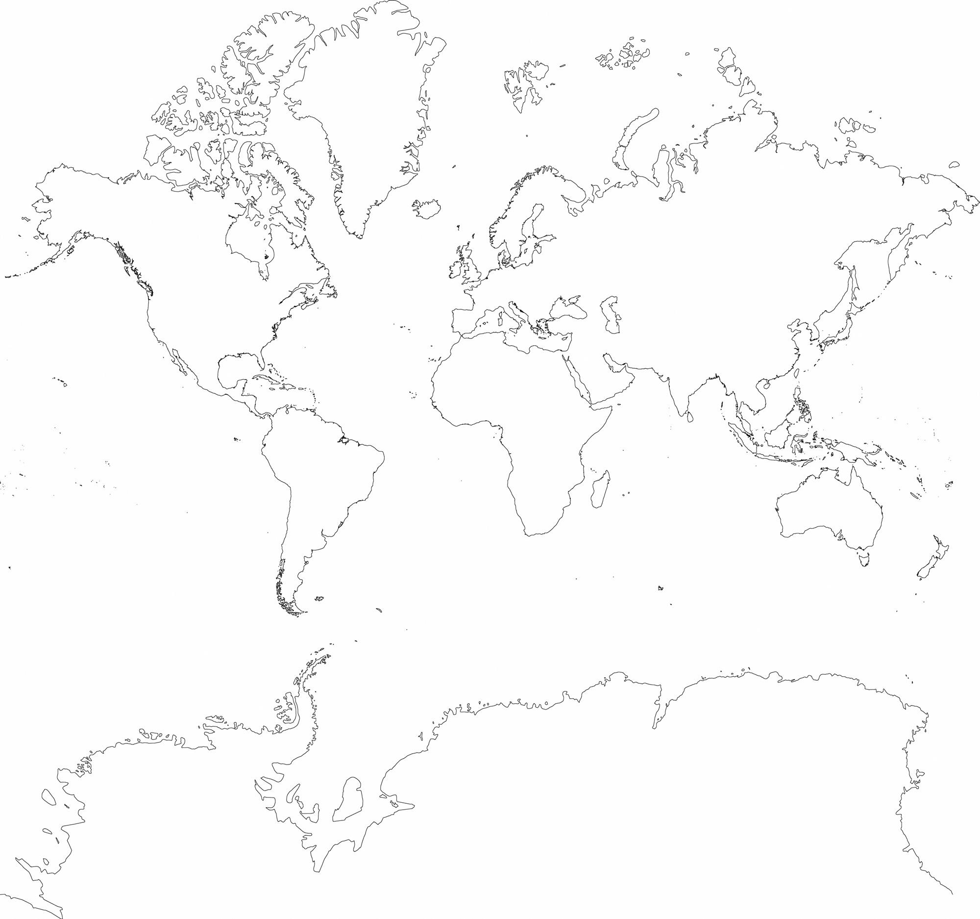 Carte du monde dessin au fusain tapisserie murale appliqué sur le mur